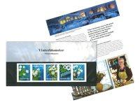 Danmark - Vinterblomster - Flot souvenirmappe