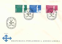 Finland FDC 1967 - LAPE nr. 633-635