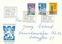 Finland Env.premier jour 1968 - LAPE no. 644-646