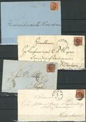 Danmark - 1858 4 sk. brun
