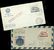 Saint Marin - 100 et 300 lires poste aérienne