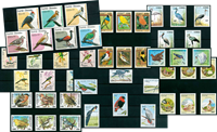Birds - 46 different stamps - Mint