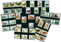Butterflies - 43 different stamps - Mint