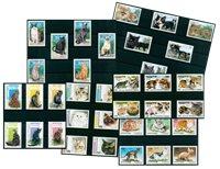 Chats - Paquet de timbres thématiques neufs