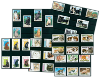 Cats - 36 different stamps - Mint