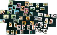 Dogs - 52 different stamps - Mint