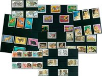 African animals - 52 different stamps - Mint