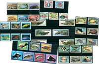 Fish - 42 different stamps - Mint