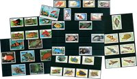 Fish - 36 different stamps - Mint