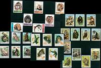 Singes - Paquet de timbres thématiques neufs