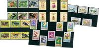 Insectes - Paquet de timbres thématiques neufs
