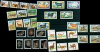 Animali selvatici - 35 francob. diff. - Nuovi