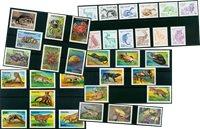 Animales salvajes - 65 sellos diferentes - Nuevo