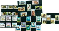 Animals - 32 different stamps - Mint