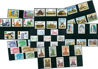 Architecture - 45 different stamps - Mint
