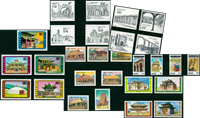Architecture - 28 different stamps - Mint