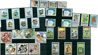 Children - 32 different stamps - Mint