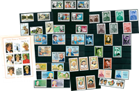 Celebrities - 53 different stamps - Mint