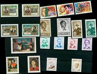Historiallisia henkilöitä - 20 erilaista - postituoreena