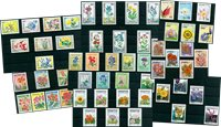 Flowers - 55 different stamps - Mint