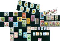 Flowers - 51 different stamps - Mint