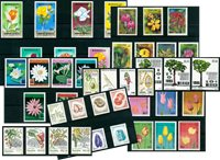 Flowers, trees, vegetables - 44 different stamps -  Mint