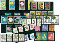 Fleurs, arbres, légumes - Paquet de timbres thématiques neufs