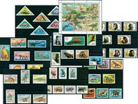Forhistorisk liv - Postfrisk motivpakke