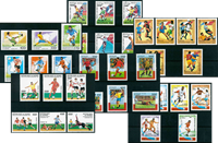 Football Coupe du Monde France - Paquet de timbres  thématiques neufs