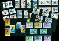 JO d'hiver - Paquet de timbres thématiques neufs