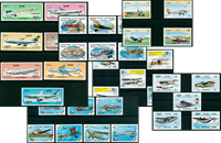Aviation - 34 different stamps - Mint