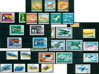 Aviation - 35 different stamps - Mint