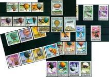 Zeppelins et montgolfières - Paquet de timbres thématiques neufs