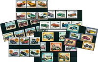 Cars and motorcycles - 39 different stamps - Mint