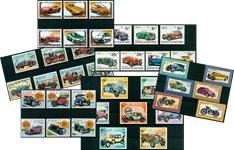 Voitures et motocyclettes - Paquet de timbres thématiques neufs
