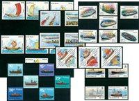 Barcos - 34 sellos diferentes - Nuevo