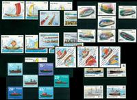 Bâteaux - Paquet de timbres thématiques neufs