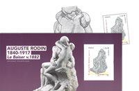 Frankrig - Auguste Rodin 'Kysset' - Postfrisk miniark i folder