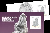 France - Auguste Rodin *Le baiser* - Bloc-feuillet neuf en pochette