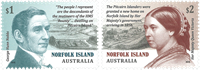 Norfolk Island - Settlement on Pitcairn Islands - Mint set 2v