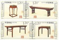 Kina - Møbelkunst - Postfrisk sæt 4v