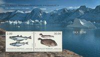 Groenland - Poissons - Bloc-feuillet neuf