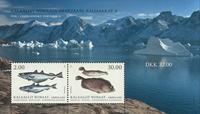 Grønland - Fisk - Postfrisk miniark