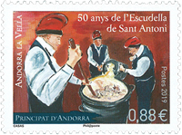 French Andorra - Escudella - Mint stamp