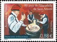 Fransk Andorra - Escudella - Postfrisk frimærke