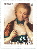 France - Emelie Châtelet - Mint stamp