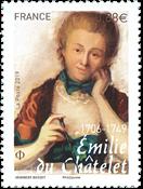 Frankrig - Emelie Châtelet - Postfrisk frimærke