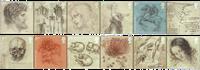 Great Britain - Leonardo da Vinci - Mint set 12v