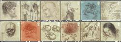 England - Leonardo da Vinci - Postfrisk sæt 12v