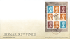 Great Britain - Leonardo da Vinci - First Day Cover with prestige booklet pane